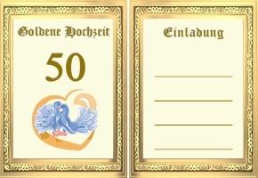 Einladungen Goldene Hochzeit Vorlagen Kostenlos | Unboxiousguru.co,  Einladungs